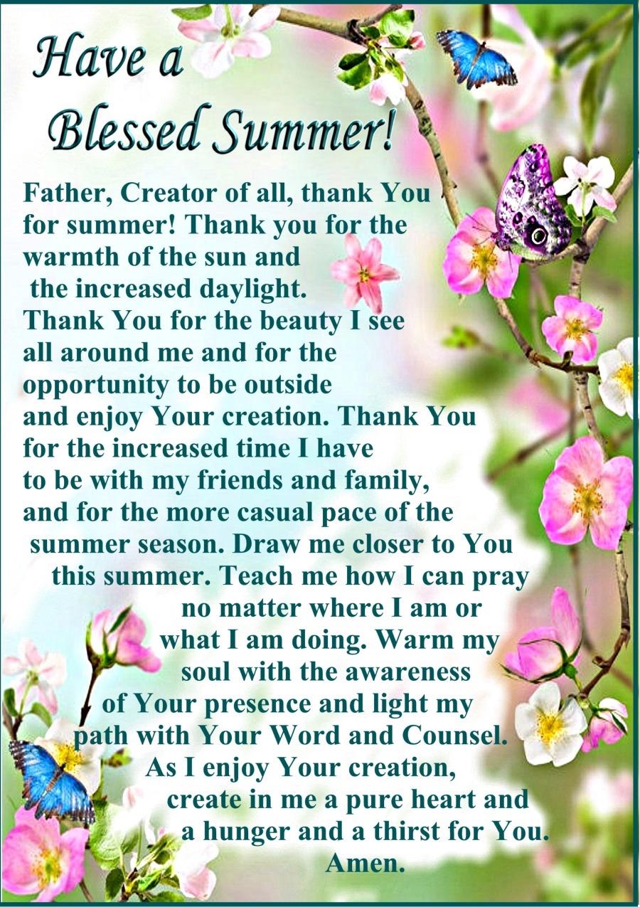 A Summer Prayer 2018