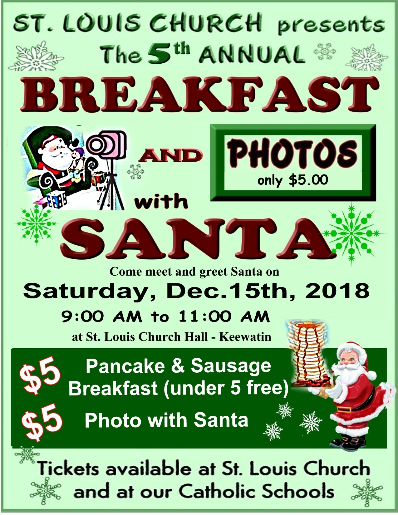 Breakfast with Santa 2018 Poster