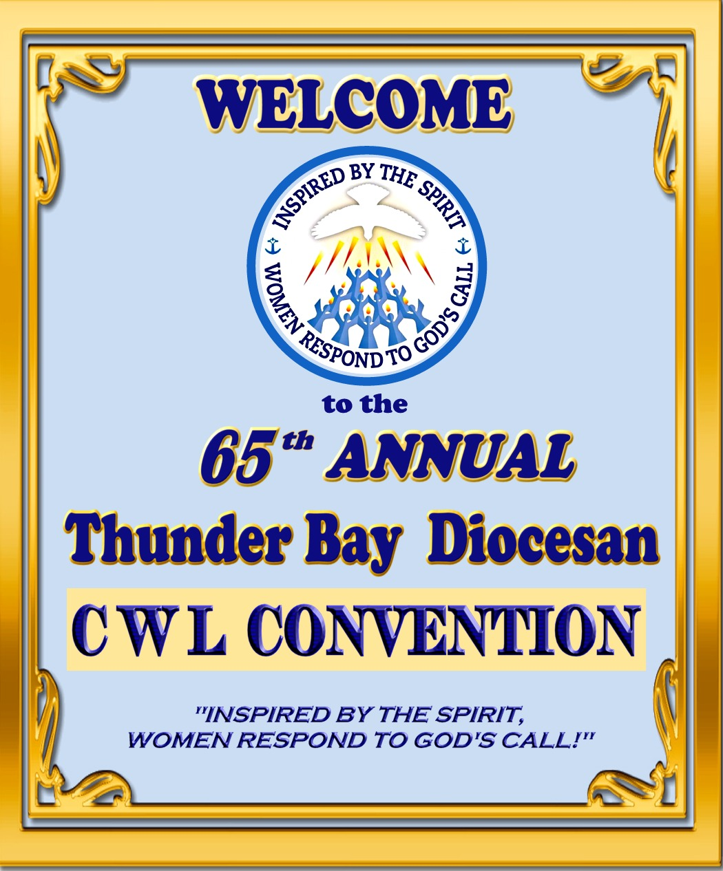 CWL 65th Convention foyer poster