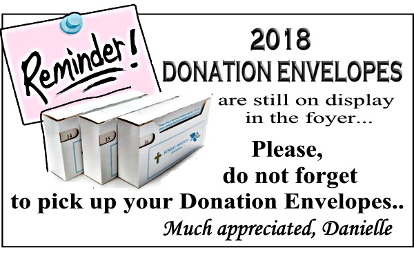 Donation Envelopes website Jan 2018