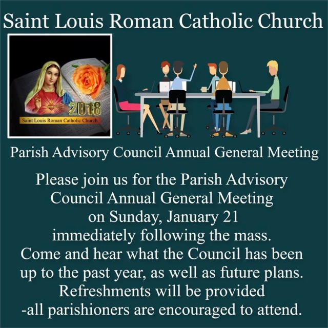Parish Advisory Annual Meeting 2018