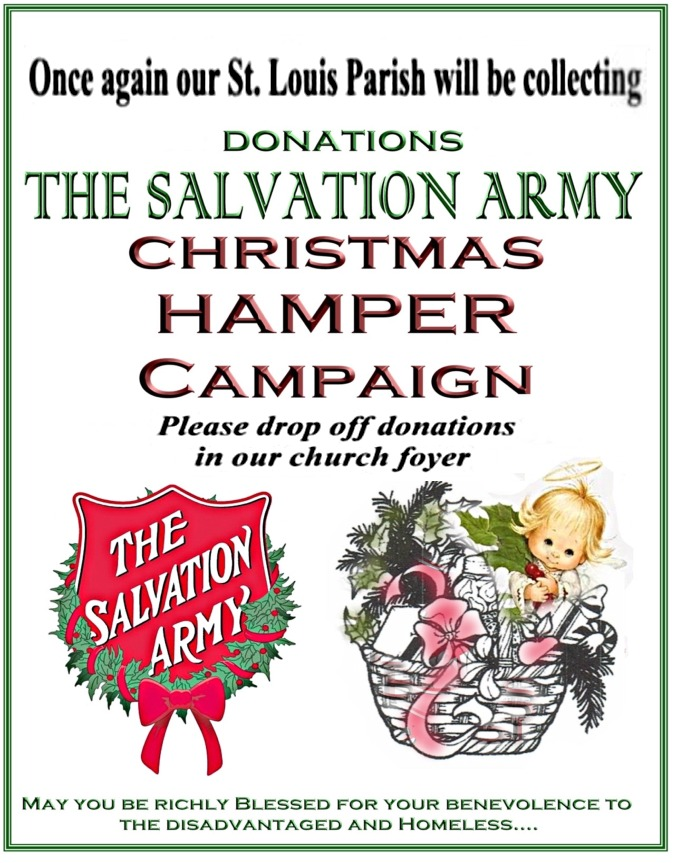 Salvation Army Hamper 2017 website