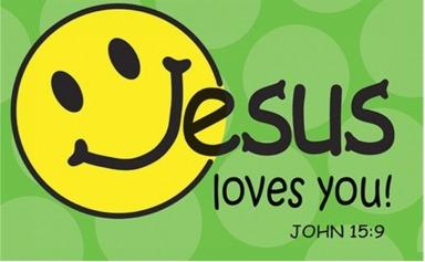 Smile Jesus Loves You 4 by 2.47
