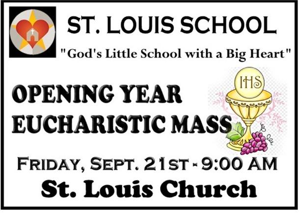 St. Louis School Opening Year Mass Sept 21, 2018