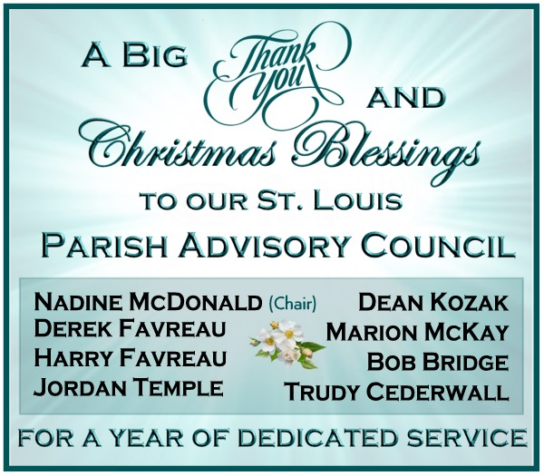 Thank you to Parish Advisory Council