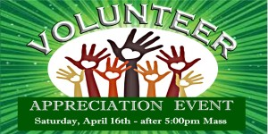 Volunteer Appreciation EVENT GREEN poster 8x4