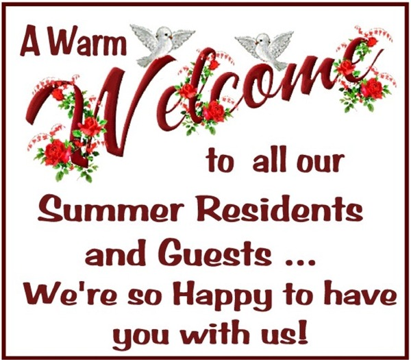 Welcome Summer Residents
