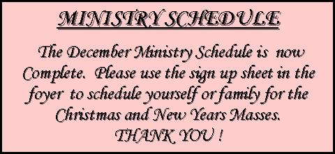 ministryschedule