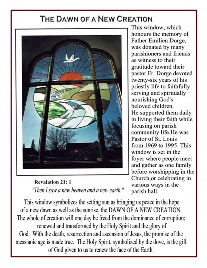 Stained Glass Window - The Dawn of a New Creation