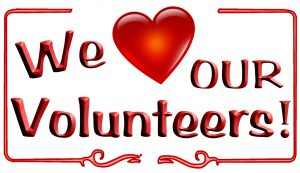 We love our volunteers logo