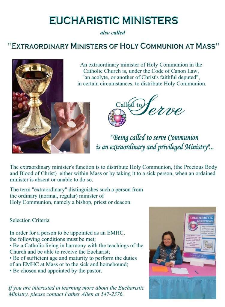 Eucharistic Ministry for the website