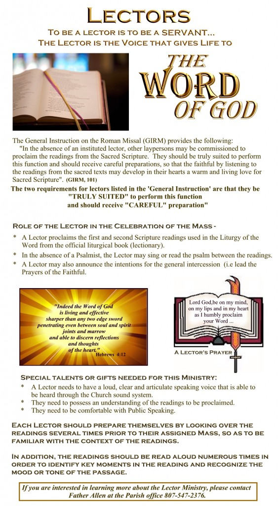 Lector Ministry for the website