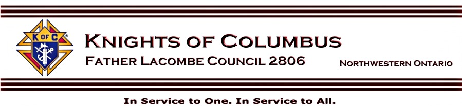 K0fC Father Lacombe Council 2806