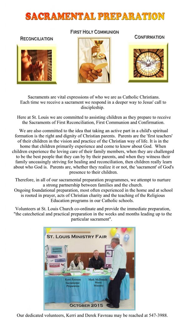 Sacramental Preparation for the website