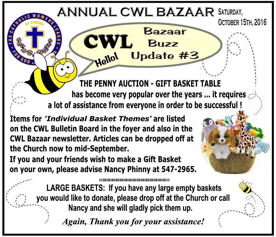 CWL Bazaar Buzz Update 3