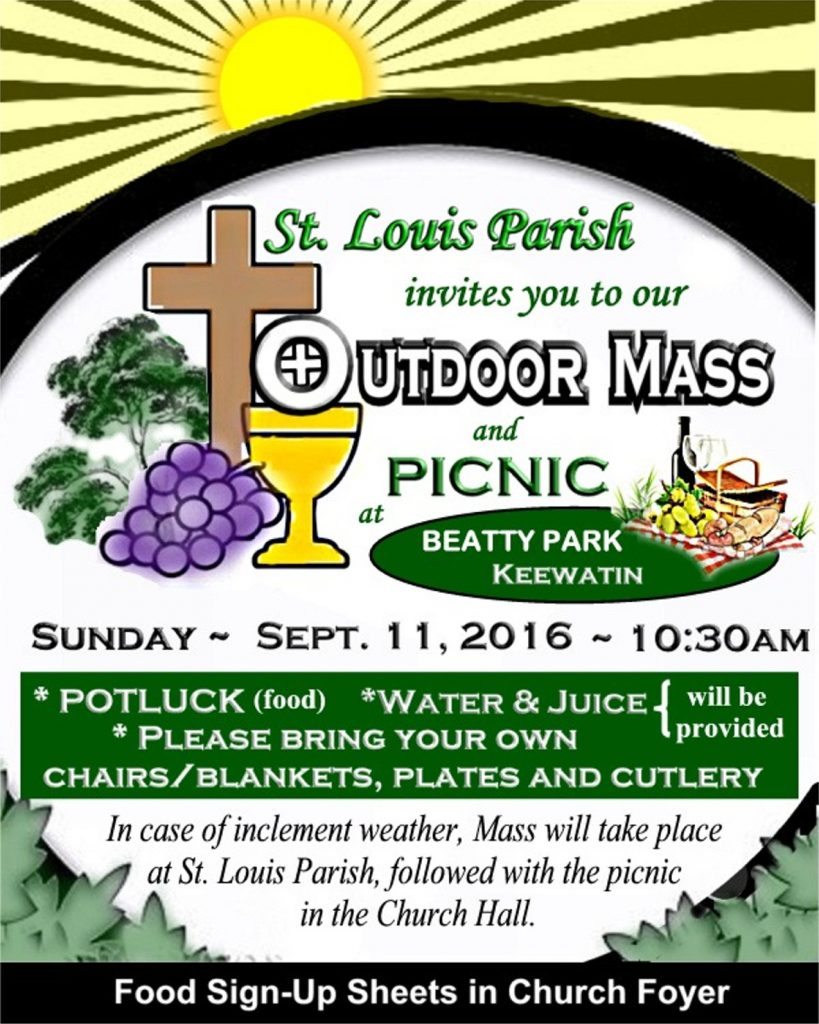 Revised Coloured Outdoor Mass and Outdoor Picnic Sept 11, 2016 8.5 by 1063