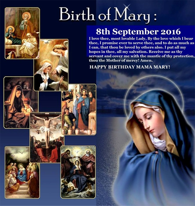 Fr. Allen Sept 8, 2016 Birth of Mary
