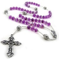 Purple Rosary 2 by 2 straight cross - flipped