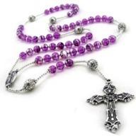 Purple Rosary 2 by 2 straight cross