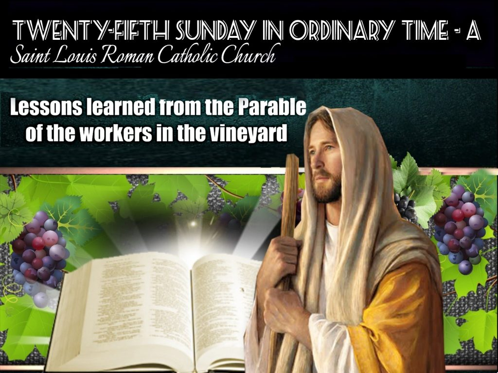 St. Louis website - Twenty Fifth Sunday in Ordinary Times edited