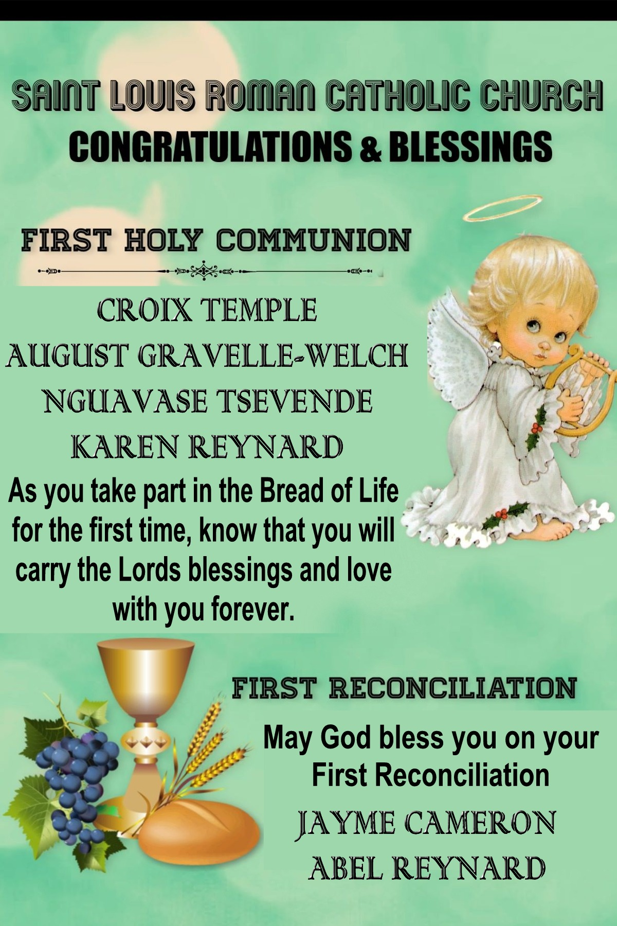 St. Louis - First Communion and Sacrament of Reconciliation