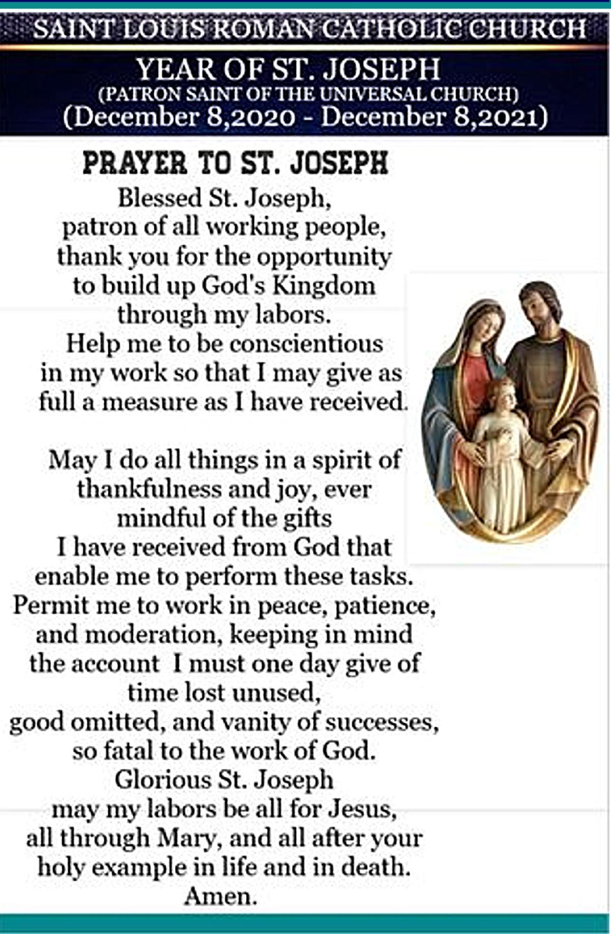 St. Louis - Prayer to St. Joseph