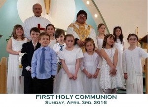 First Holy Communion -  April 3rd, 2016 large